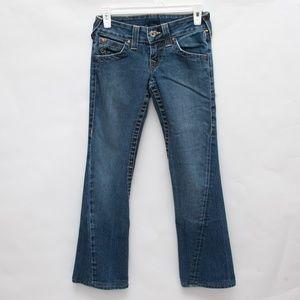 True Religion Joey' Twist Seam Flare Jeans